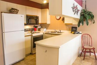 Slopeside Condo 702 Kitchen