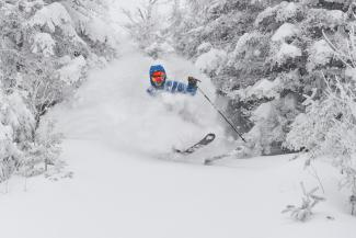 "Over a foot of snow in the past 24 hours and we've surpassed 300"" for the season. Skol."