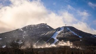 Creating clouds with snowmaking to add more beginner trails.